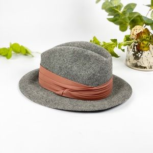 VTG Lancaster Wool Felt Fedora Light Gray Hat